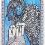 Angel series, a painting by samaneh atef