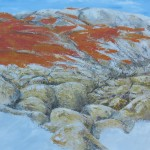 Fiery Rocks, Bay of Fires, a painting by wagartist