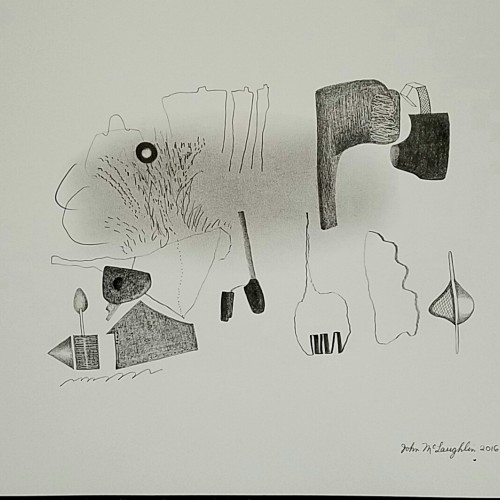 One, a drawing by John McLaughlin