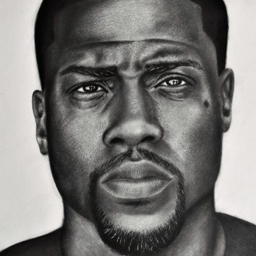 Portrait of Kevin Hart, a drawing by PMOArt